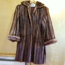 Vintage C.W. Holt Co. Martinsville , Va Brown Fur Coat