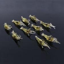 10x Shrimp Fishing Simulation Soft Prawn Lure Hook Bait Sea Fishing Lures ZY
