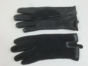 Women's Gloves MARC CAIN Ca 6 1/4 Material Mix With Real Leather Tip Top / Ya