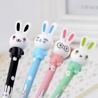 4x/Lot Cute Rabbit Gel Pink Pen Black Ink Pen Kawaii Stationery School Supplies