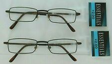 LOT OF 2 - Reading Glasses Jace Brown +2.00 NEW