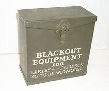 NOS WW2 Surplus Metal Storage BOX for Black Out Gear - Harley 45 Solo WLA WLC