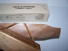 Vintage Made in Japan Ideal's Supreme Turkey Call With Box