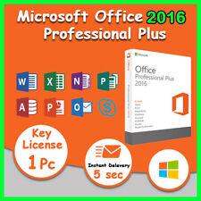 MS Office 2016 Pro Plus 32/64 Bit Genuine License Key For 1 PC or 1 Laptop