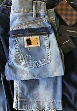 DOLCE & GABBANA NWT Destroyed Cotton Law Rise Denim Jeans Tg. 44