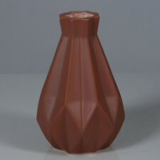 Сhocolate Colored Ceramic Vase Modern Art Collectible Figurine 8.7''