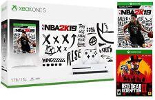 Xbox One S 1TB Console - NBA 2K19 Bundle + Red Dead Redemption 2 Bundle NEW