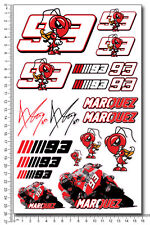 Marquez 93 decals set 6.3x10.2 in sheet 18 stickers Laminated Repsol Honda