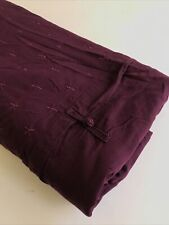 Ikea Queen Duvet Cover Purple Embroidered Cotton Solid Full Elegant Modern LOOK