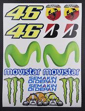 Vale Rossi The Doctor 46 Aufkleber Laminiert stickers MotoGP Movistar yamaha