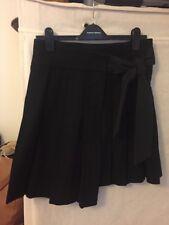 Topshop Black Pleated Wrap Around Skirt Size 10