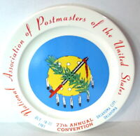 Vintage National Association of Postmasters of US Commemorative Plate 1981