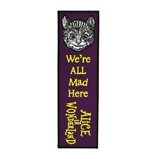 "Bookmark Sew-On Patch Purple ""Alice in Wonderland"" Cheshire Cat Reading Craft"