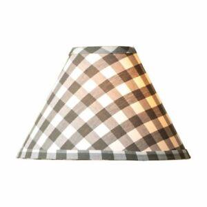 Farmhouse new 15-inch Gray Checked Lamp Shade