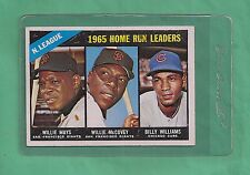 1966 Topps NL Home Run Leaders Mays,McCovey,Williams # 217 NM Low Pop Card !!!!