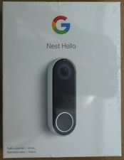 **NEW + FREE SHIP** Nest Hello Wired Video Doorbell - Black/White
