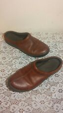 ARIAT Women's Brown Leather Slip On Clogs Size 6