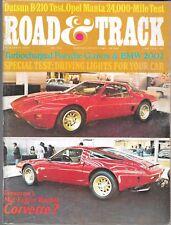 ROAD & TRACK MAGAZINE VOL. 25 #4 DECEMBER 1973 (VG) CORVETTE