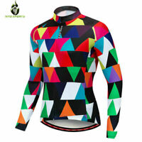 Men's Cycling Jersey Bike Coat Long Sleeve Bicycle Tops Breathable Riding Shirts