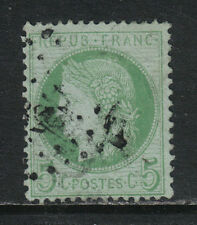 France 1870-73 Ceres 5c green on pale blue (53a) used