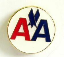 13174 AMERICAN AIRLINES AA ROUND LOGO AVIATION AIRWAYS LAPEL PIN BADGE