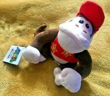"Super Mario Plush Teddy - Diddy Kong Soft Toy - Size 7"" / 18cm NEW & Tagged"
