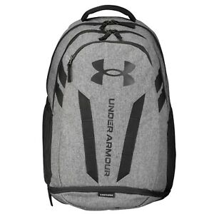 Brand New! Under Armour Hustle 5.0 Backpack Grey/ Black 002