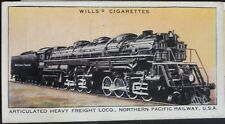 No.45 ARTICULATED LOCO USA Railway Engines (Adhesive) W.D.& H.D. Wills 1936