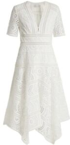 Zimmermann Meridian Broderie-Anglaise Dress In White Size 2
