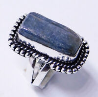 Rough Keynite 925 Sterling Silver Plated Handmade Jewellery Ring UK Size-L