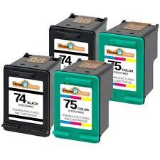 4pk 74 75 Cartridges for HP Photosmart C4480 C4500 C4540 C5200 C5240 C5290 C5550