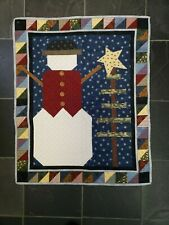 "Christmas Snowman with Tree Quilted Wall Hanging 27"" X 33"""