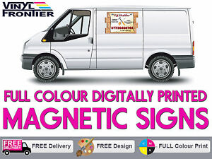 Pair of Full Colour Digitally Printed Magnetic Vehicle Signs - Free Delivery