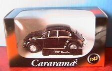VW VOLKSWAGEN COCCINELLE BEETLE NOIR BLACK CARARAMA 1/43 DIE CAST CAR GERMANY