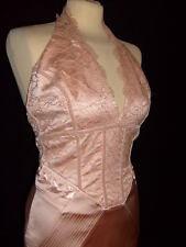 KAREN MILLEN holiday lace corset cocktail halter neck wedding dress UK 10 BNWT