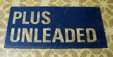PLUS UNLEADED Real Gas Station Pump Insert Sign, Printed On Clear Plastic