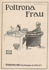 Z2343 Poltrona FRAU - Torino - Pubblicità 1928 - Vintage advertising