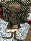 Primitive Patti Doll With Necklace And Bird Handmade For Sale