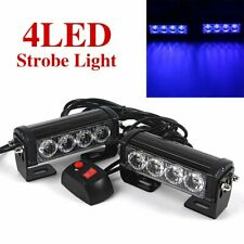 2x 12V LED Strobe Flash Light Warning Hazard Emergency Beacon Car Truck Blue