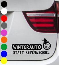 2er Set Autoaufkleber WINTERAUTO statt Reifenwechsel Winter Sticker Auto Snow