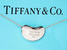 Tiffany & Co Elsa Peretti Sterling Silver 20mm Bean Pendant Necklace