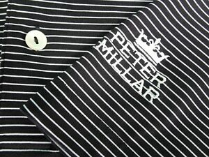 PETER MILLAR Summer Comfort L Large black / white striped polo golf shirt