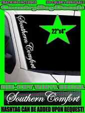 SOUTHERN COMFORT 22x4 Vertical Windshield Vinyl Decal Country South Pride Truck