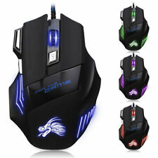New listing Wired Gaming Mouse w/ Led Breathing Fire Button 5500 Dpi for Pc Laptop Mac