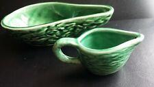 Toni Raymond Vintage Pottery Avocado Pear Dish And Jug