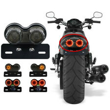 LED Dual Tail Turn Signal Brake License Plate Tail Light For Motorcycle Bobber