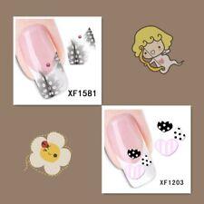 2Sheet/New Fashion Trend Beautifully Beautiful DIY Nail Stickers XF1581+1203