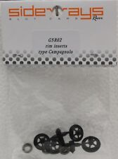 SIDEWAYS G5R02 TYPE CAMPAGNOLO WHEEL INSERTS NEW 1/32 SLOT CAR PART