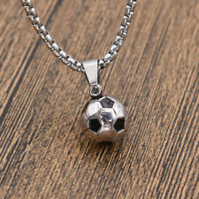 Fußball Anhänger Sportmotiv Halskette Damen Herrenschmuck DIY Titan Modeschmuck