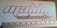 Malibu Wakesetter Decal in Premium metallic silver (chrome) vinyl 10 in sticker